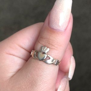 Jewelry - Sterling silver and rose gold heart crown ring